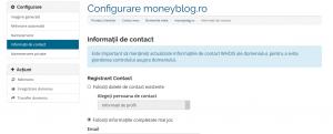 modificare informatii contact domenii